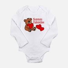 Nonna's Valentine Cartoon Bear Body Suit