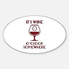 It's Wine O'Clock Somewhere Decal