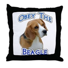Obey Beagle Throw Pillow