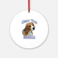 Obey Beagle Ornament (Round)