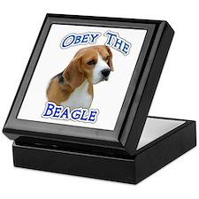 Obey Beagle Keepsake Box