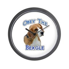 Obey Beagle Wall Clock