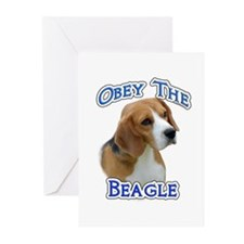 Obey Beagle Greeting Cards (Pk of 10)