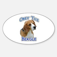 Obey Beagle Oval Decal
