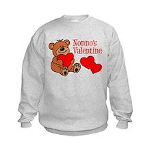 Nonno's Valentine Cartoon Bear Sweatshirt