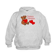 Nonno's Valentine Cartoon Bear Hoodie