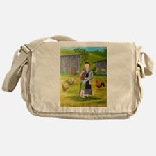 Unique Folk art Messenger Bag