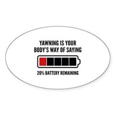 Yawning Decal