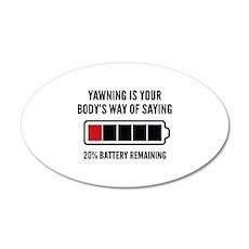 Yawning 22x14 Oval Wall Peel