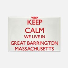 Keep calm we live in Great Barrington Mass Magnets
