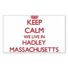 Keep calm we live in Hadley Massachusetts Decal