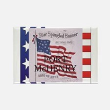 Cute Fort mchenry flags Rectangle Magnet