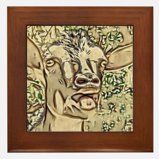 Nigerian Dwarf Goat In Gold Framed Tile