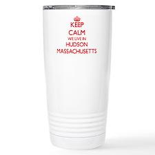 Keep calm we live in Hu Travel Mug