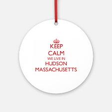 Keep calm we live in Hudson Massa Ornament (Round)