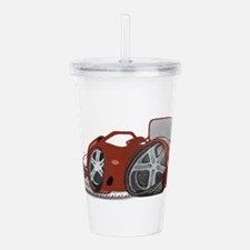 Cartoon Red Sports Car Acrylic Double-wall Tumbler