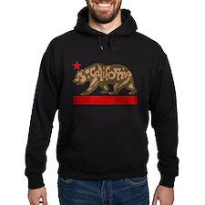 Fuzzy California State Bear Hoodie