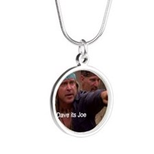 Cody and Dave wait for Teti  Silver Round Necklace