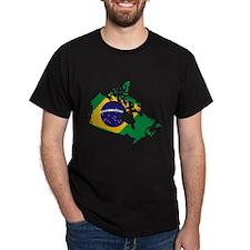 Brazil inside Canada T-Shirt