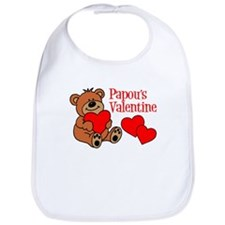 Papou's Valentine Cartoon Bear Bib