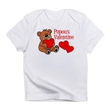 Papou's Valentine Cartoon Bear Infant T-Shirt