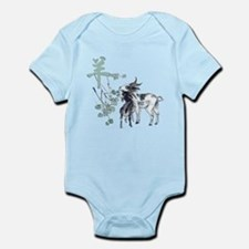 Watercolor Year of the Goat Infant Bodysuit
