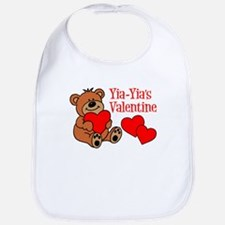 Yia-Yia's Valentine Cartoon Bear Bib