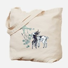 Watercolor Year of the Goat Tote Bag