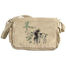 Watercolor Year of the Goat Messenger Bag