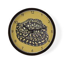 Jungle Carpet Python Wall Clock
