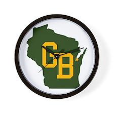 GB - Wisconsin Wall Clock