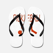 Pickleball with ball and paddle sport Flip Flops