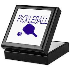 Pickleball with ball and paddle sport Keepsake Box