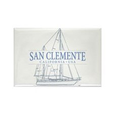 San Clemente Rectangle Magnet (10 pack)