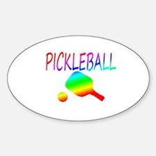 Pickleball with ball and paddle sport Stickers