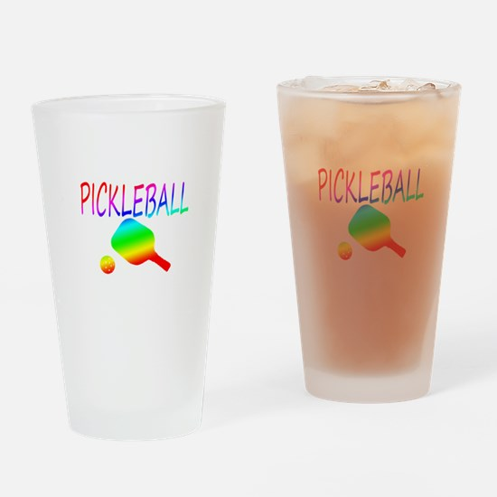 Pickleball with ball and paddle sport Drinking Gla