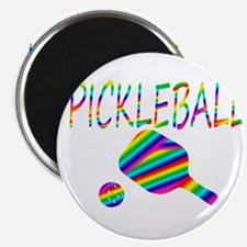 Pickleball with ball and paddle sport Magnets