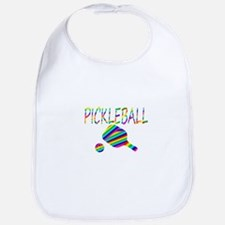 Pickleball with ball and paddle sport Bib