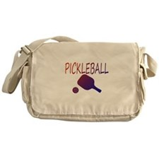 Pickleball with ball and paddle sport Messenger Ba