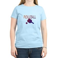 Pickleball with ball and paddle sport T-Shirt