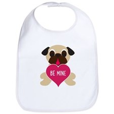 Valentine's Day Pug - Be Mine Bib