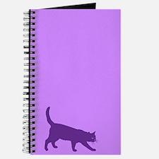 Purple On Purple Cat Silhouette Journal