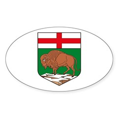 Manitoba Coat of Arms Oval Decal