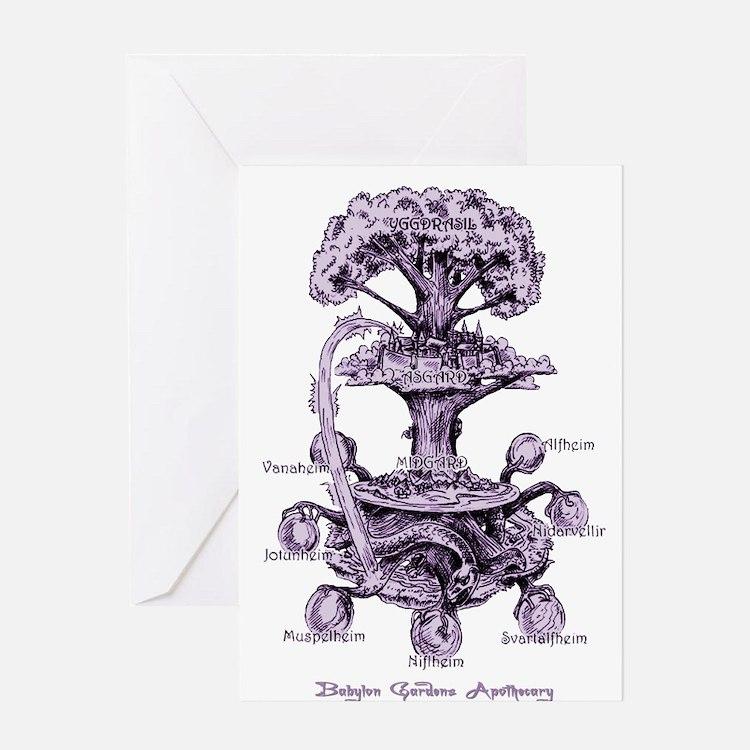 Nine Doors of the Midgard Greeting Cards