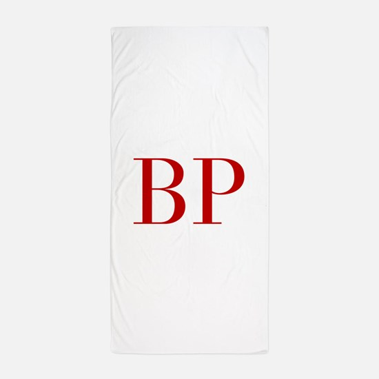 BP-bod red2 Beach Towel