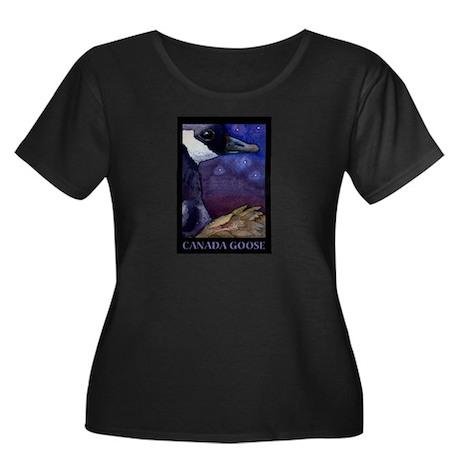 Waterfowl-Canada Goose Women's Plus Size Scoop Nec