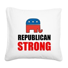 Republican Strong Square Canvas Pillow