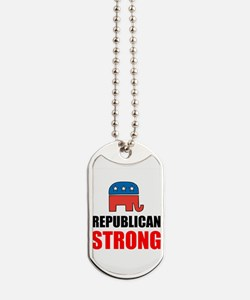Republican Strong Dog Tags