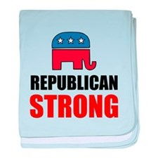 Republican Strong baby blanket
