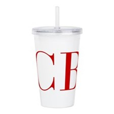 CB-bod red2 Acrylic Double-wall Tumbler